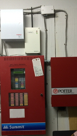 Fire Alarm UDACT Installation c/w Potter PSN-106 Booster Power Supply